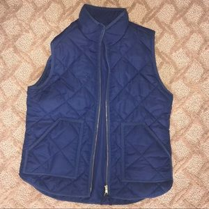 J.Crew Navy Quilted Vest - Worn Once!!